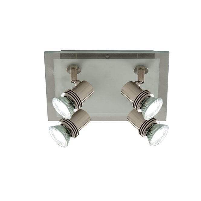 TOP HAT square ceiling spotlight cluster