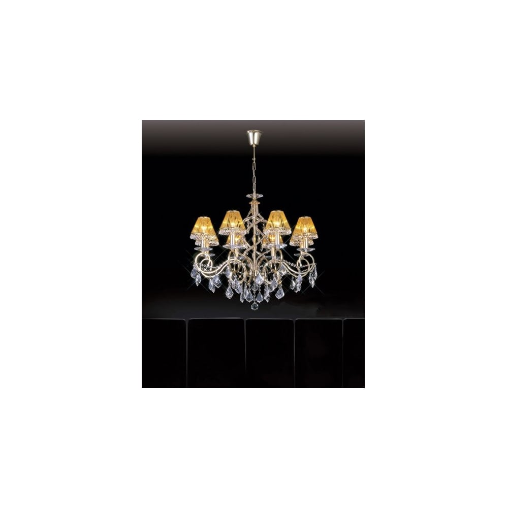 Buy gold plated light asfour lead crystal chandelier torino large 8 light gold plated asfour lead crystal chandelier aloadofball Image collections