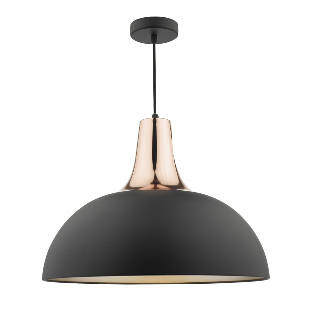 Smart modern matte black and copper ceiling pendant with dome shade modern matte black and copper dome ceiling pendant mozeypictures Images