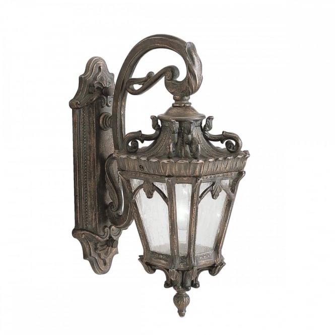 TOURNAI ornate Gothic outdoor wall lantern in aged bronze (medium)