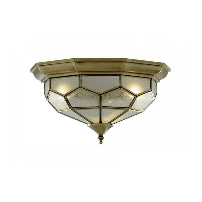Traditional flush ceiling light for low ceilings