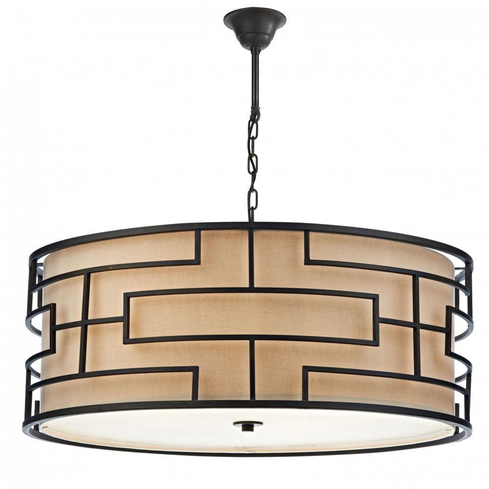 Pendant Light Fitting in a Geometric Mid Century Style. Hotel Lights UK