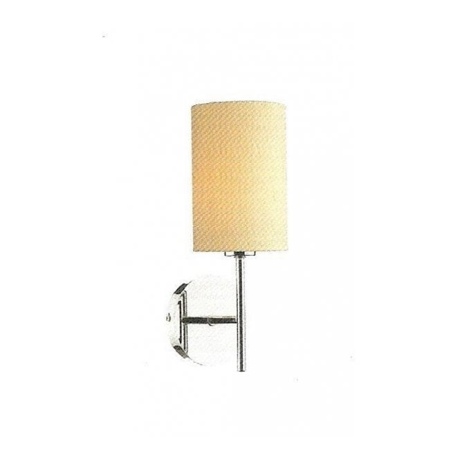 TUSCAN wall light, pale gold silk shade