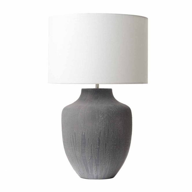 Udine Rustic Grey Ceramic Table Lamp Base