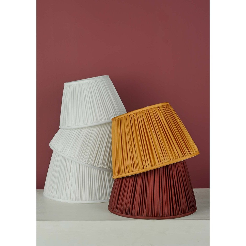 Ulyana Pleated Easy Fit Shade Ochre, Pleated Lamp Shades For Table Lamps Uk