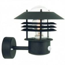 VEJERS garden wall light with sensor (black)