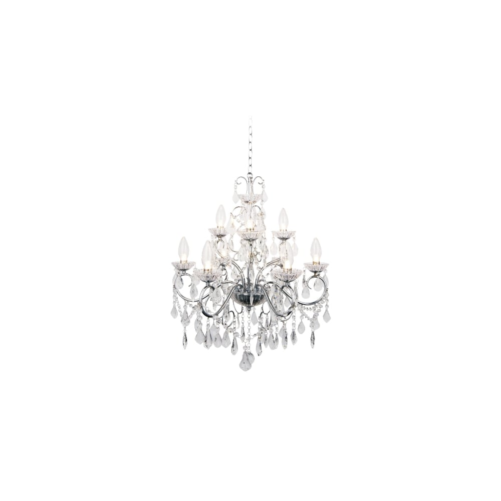 traditional chrome  u0026 glass bathroom chandelier