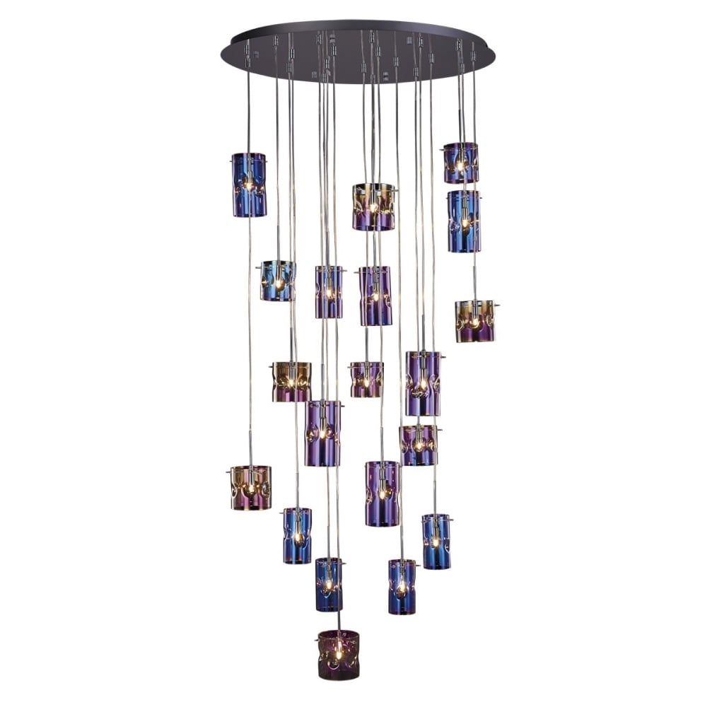 20lt Pendant Cluster With Translucent Coloured Glass Lighting Company