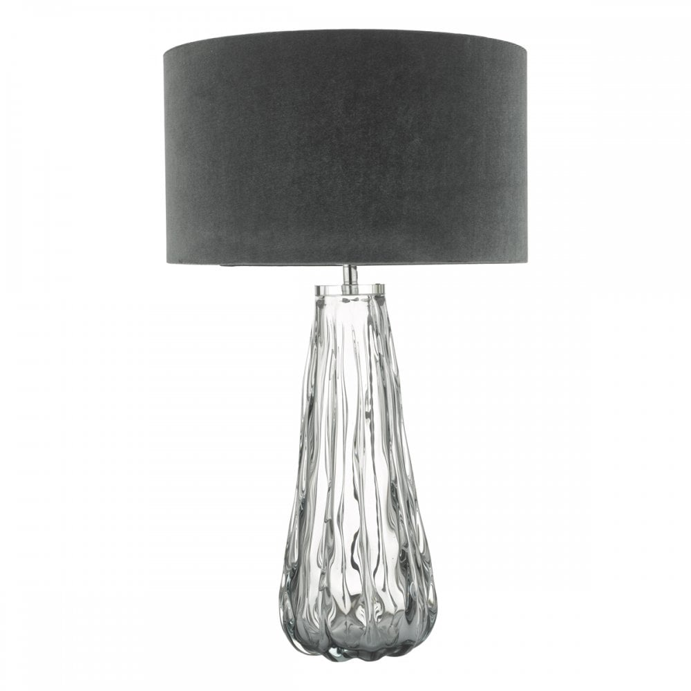 Vezzano Textured Smoked Glass Table Lamp Base