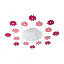 VIKI 1 Childrenu0027s Flower Ceiling Light With Nightlight Function