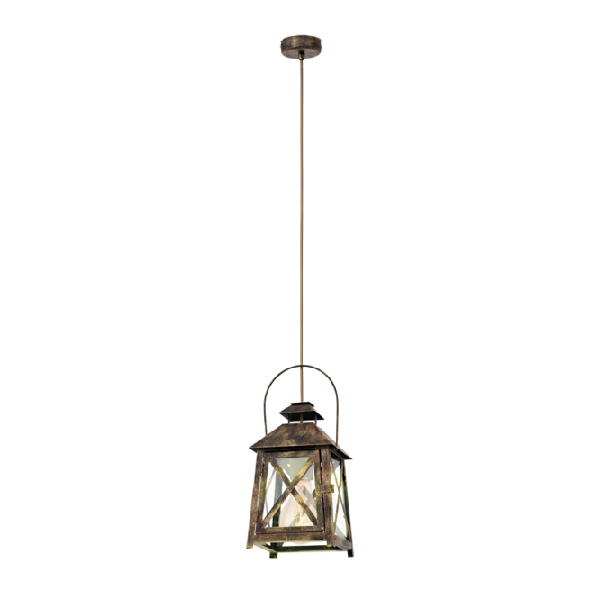 Vintage Collection CAGE rustic gold lantern ceiling pendant