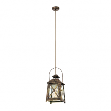 CAGE rustic gold lantern ceiling pendant