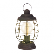 CAGED patina brown rustic table lamp
