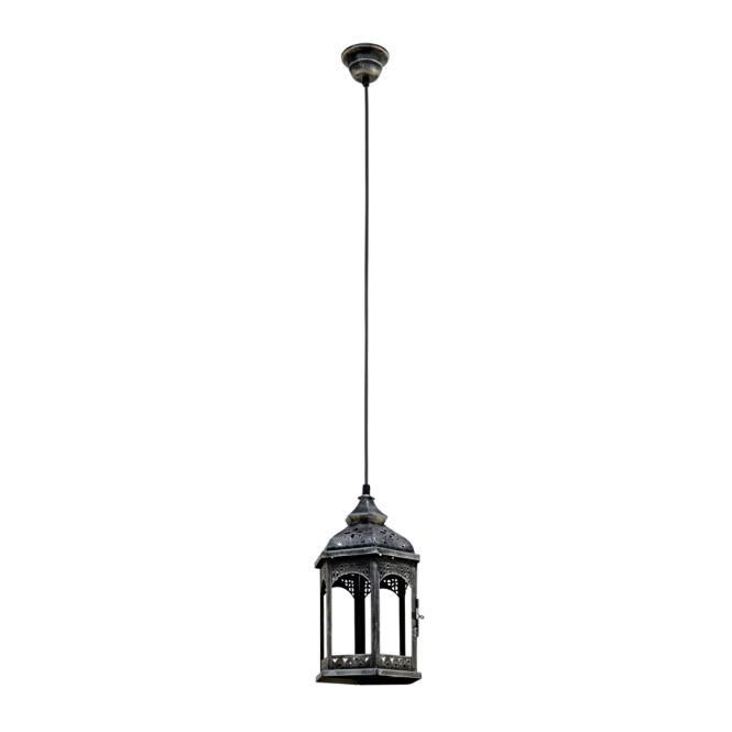 Vintage Collection CARGO rustic ceiling pendant lantern in antique silver