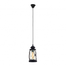 CARGO rustic nautical style lantern with rope detail (black)