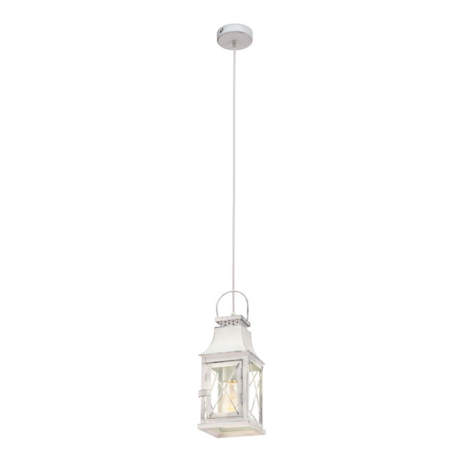 Vintage Collection CARGO rustic patina grey ceiling pendant lantern