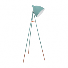 DIRECTORS retro style floor lamp in mint blue coloured finish