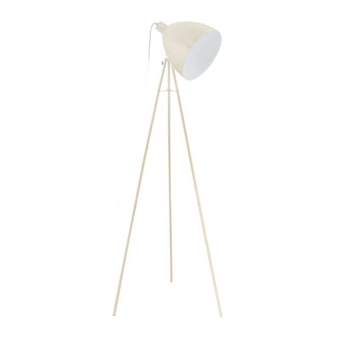 DIRECTORS retro style floor lamp in sandy coloured finish