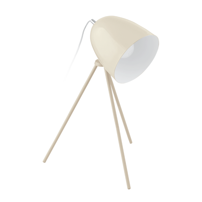 DIRECTORS retro style table lamp in sandy coloured finish