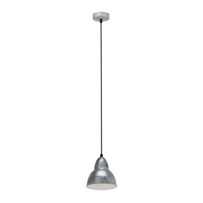 Vintage Collection FACTORY retro ceiling pendant light in an antique silver finish