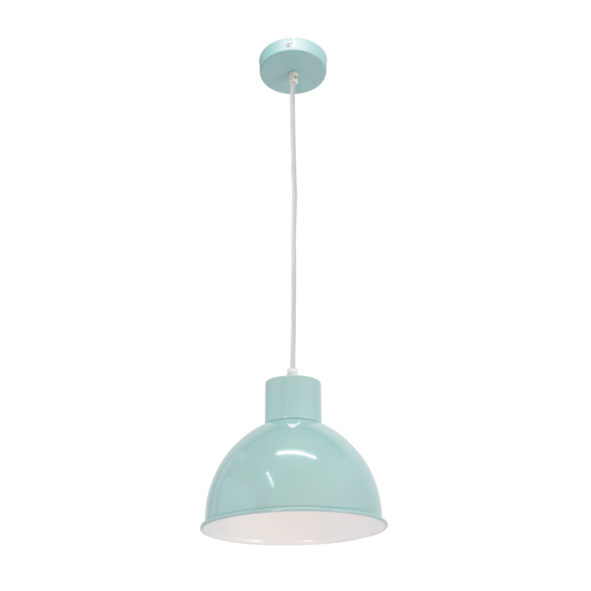 Vintage Collection FACTORY retro ceiling pendant with mint outer and white inner