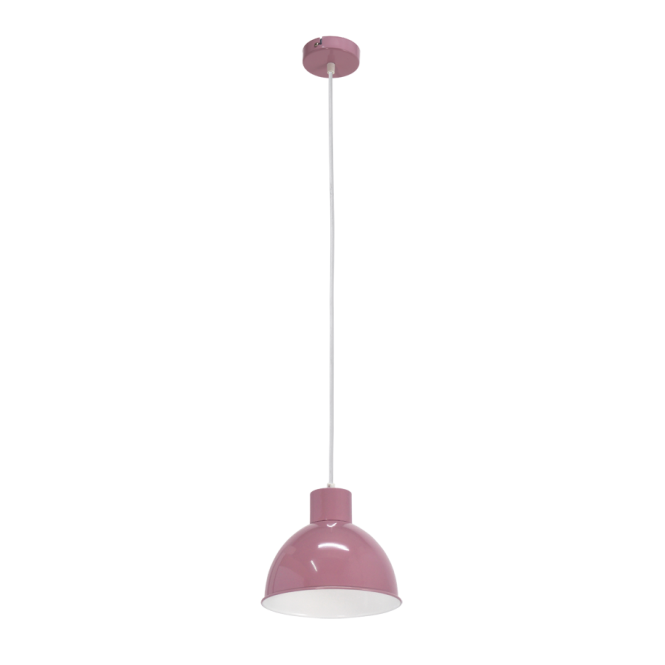 Vintage Collection FACTORY retro ceiling pendant with purple outer and white inner