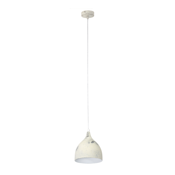 Vintage Collection FACTORY retro design ceiling pendant in a limed white finish