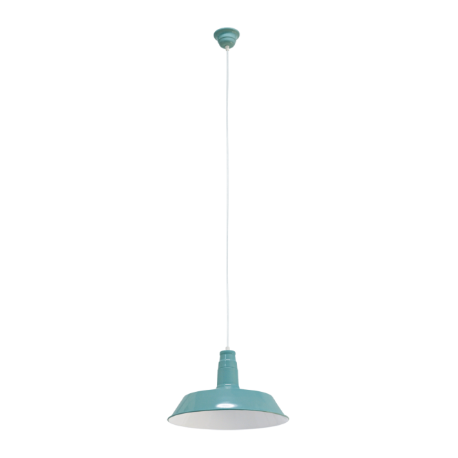 Vintage Collection FACTORY retro design ceiling pendant in mint finish