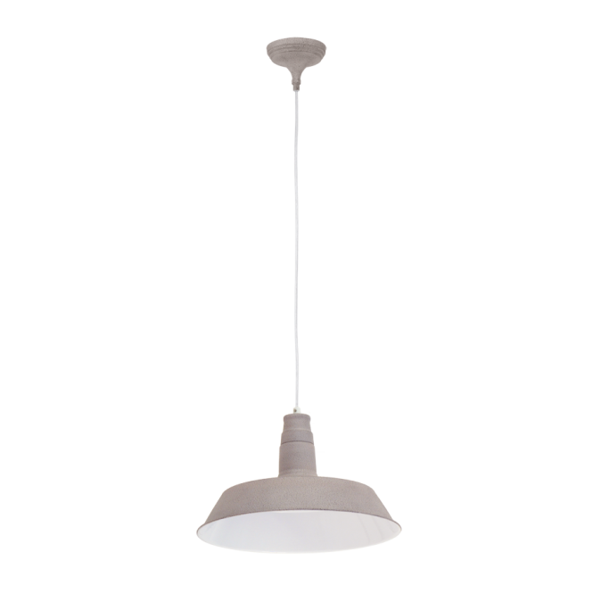 Vintage Collection FACTORY retro design ceiling pendant in taupe finish