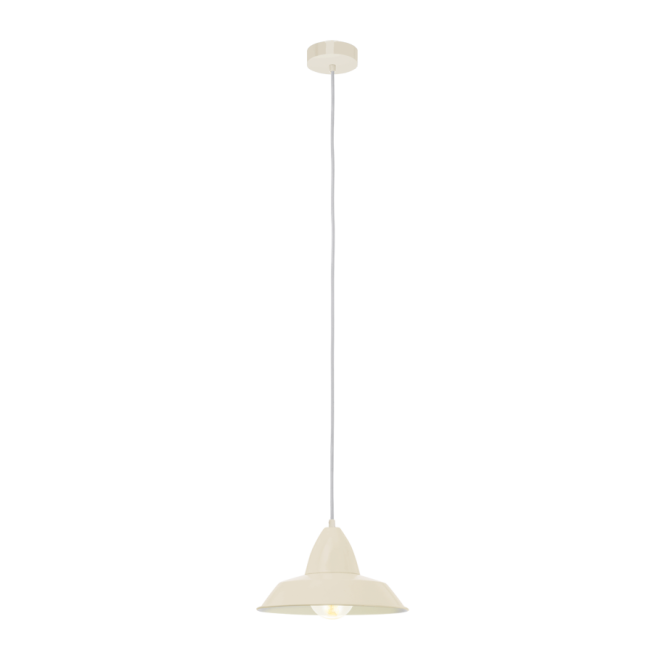 Vintage Collection FACTORY retro style ceiling pendant in a sandy finish