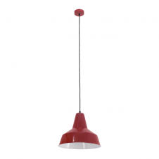 FACTORY retro style ceiling pendant in bordeaux red finish