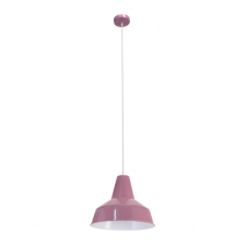 FACTORY retro style ceiling pendant in violet purple finish