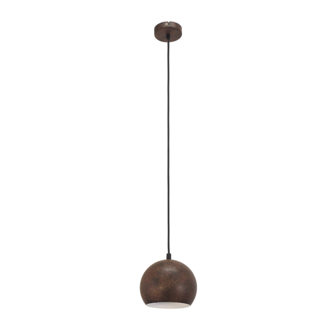 Vintage Collection FACTORY rustic design small ceiling pendant in rust metal finish