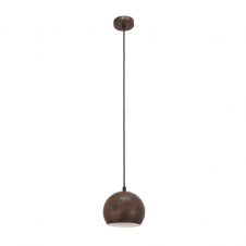 FACTORY rustic design small ceiling pendant in rust metal finish