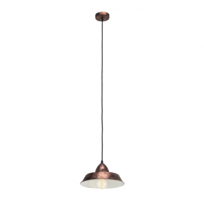 Vintage Collection FACTORY rustic industrial design ceiling pendant in a copper finish