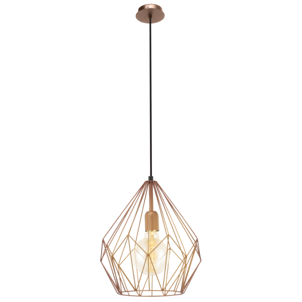 Modern Retro Design Copper Frame Ceiling Pendant Light