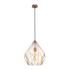 GEOMETRIC contemporary copper frame ceiling pendant