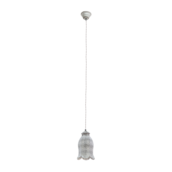 Vintage Collection MARRAKECH decorative patterned ceiling pendant in patina grey finish