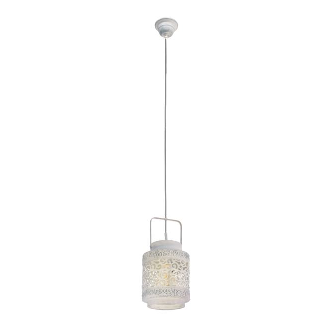Vintage Collection MARRAKECH decorative traditional ceiling pendant light in rustic grey finish