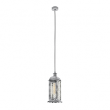 MARRAKECH decorative traditional hanging lantern in an antique silver finish