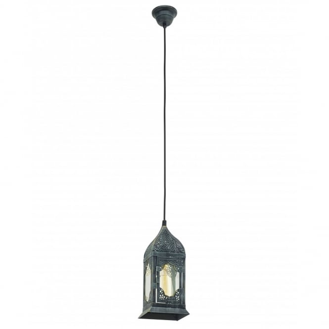 Vintage Collection MARRAKECH traditional rustic design ceiling pendant lantern in patina green