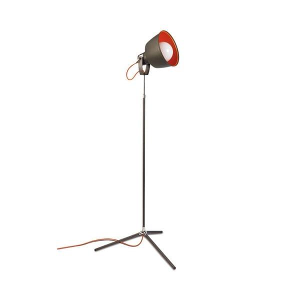 Contemporary Grey & Orange Floor Lamp