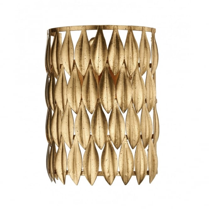 VOLCANO leaf design gold wall light