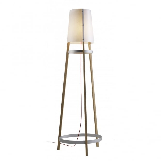 WAI TING contemporary wooden floor lamp (white oak)