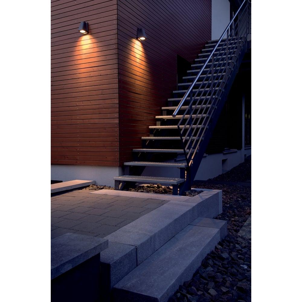 WALLYX Anthracite Outdoor Garden Wall Light