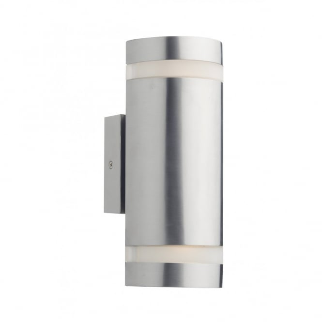 Contemporary Stainless Steel Led Garden Wall Light Ip44 Rated
