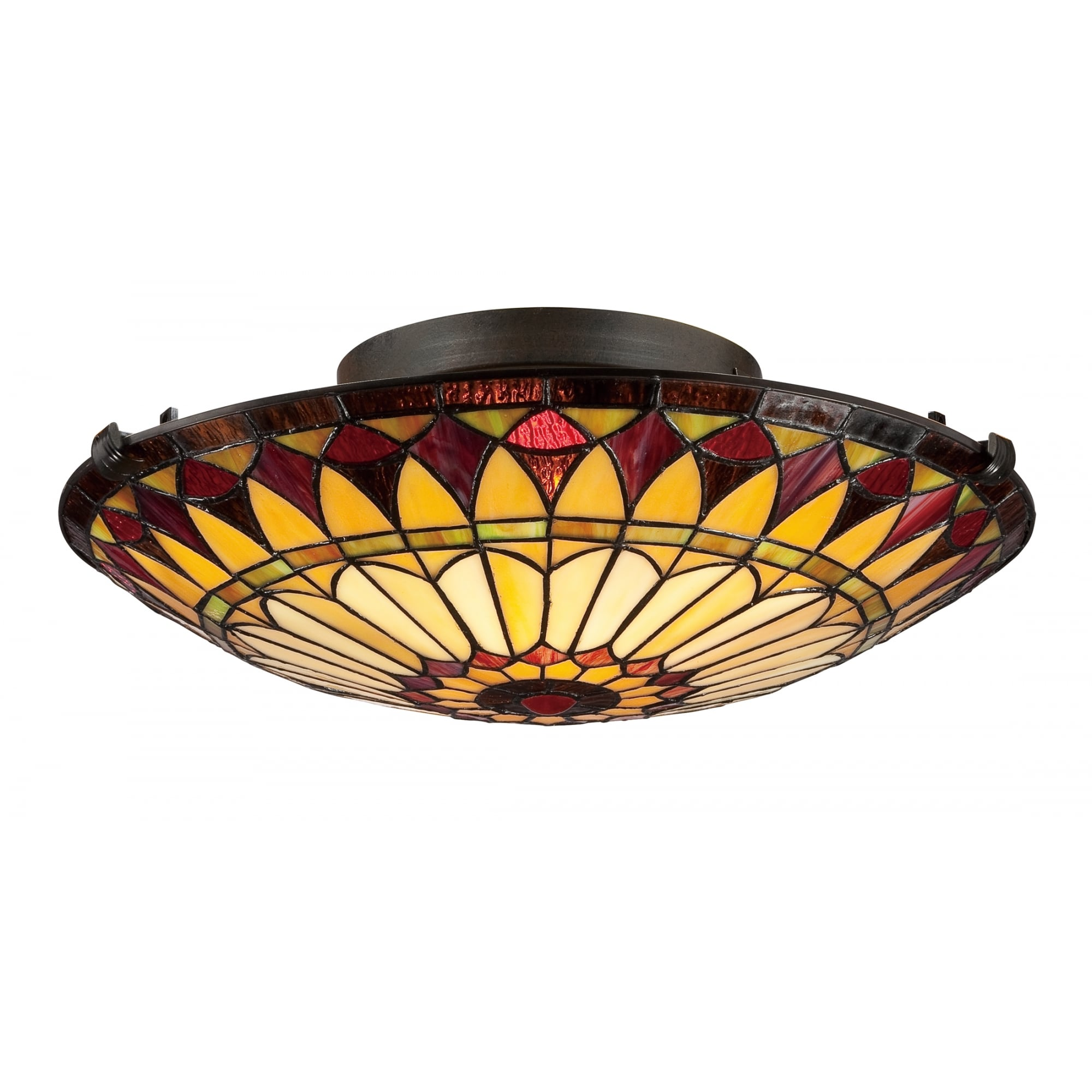 WEST END Tiffany style flush fit ceiling light