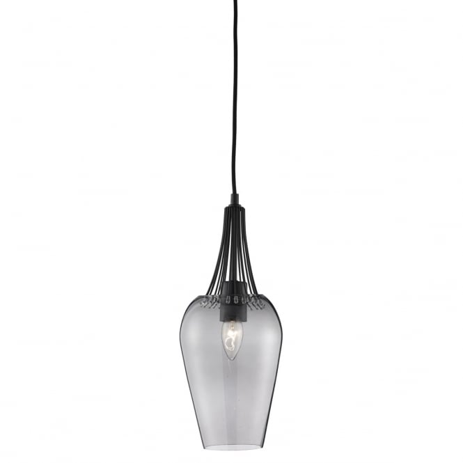 WHISK black and smokey glass ceiling pendant