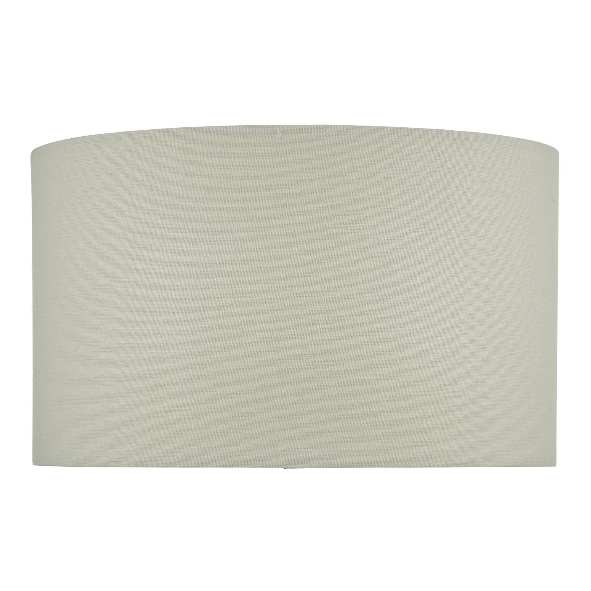 White Linen Drum Lamp Shade Lighting, Lamp Shade White Linen Drum