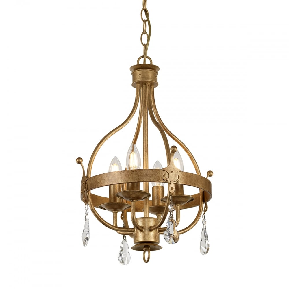 WINDSOR 6 light traditional chandelier in gold patina finish